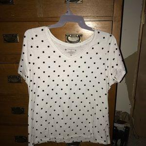 Lane Bryant polka dot shirt. Size 18/20